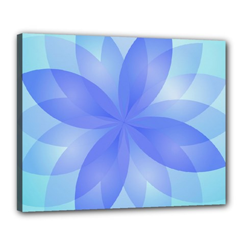 Abstract Lotus Flower 1 Canvas 20  X 16  (framed) by MedusArt