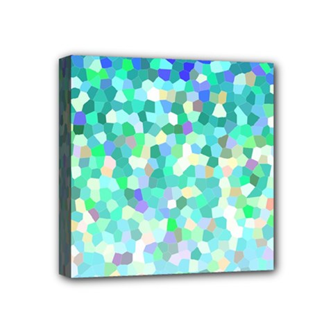 Mosaic Sparkley 1 Mini Canvas 4  X 4  (framed) by MedusArt