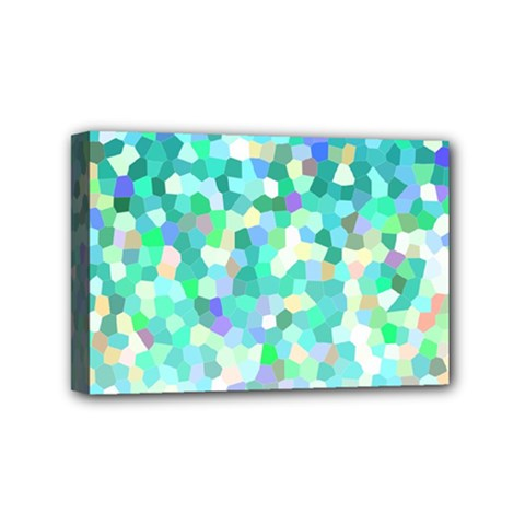 Mosaic Sparkley 1 Mini Canvas 6  X 4  (framed) by MedusArt