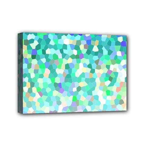 Mosaic Sparkley 1 Mini Canvas 7  X 5  (framed) by MedusArt