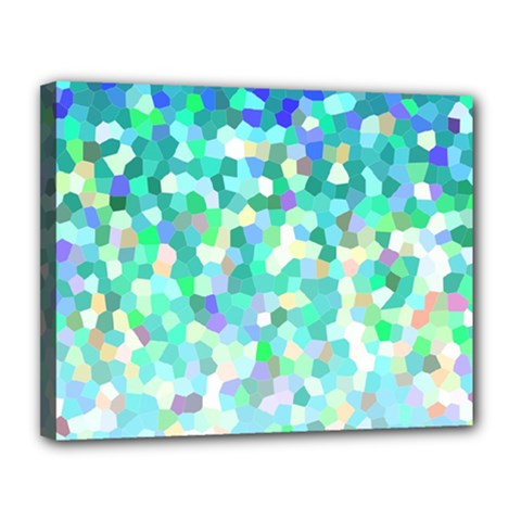 Mosaic Sparkley 1 Canvas 14  X 11  (framed) by MedusArt