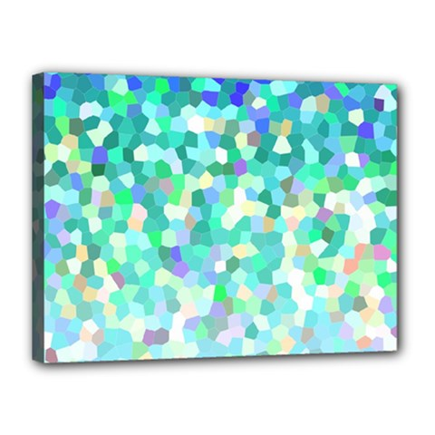 Mosaic Sparkley 1 Canvas 16  X 12  (framed) by MedusArt