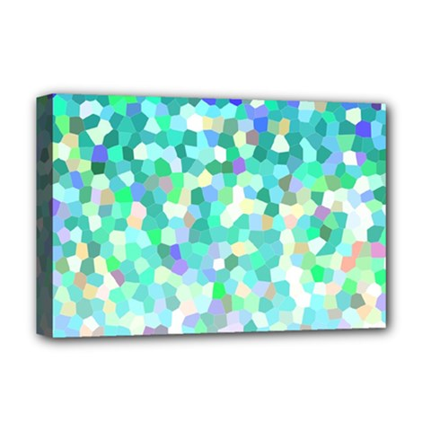 Mosaic Sparkley 1 Deluxe Canvas 18  X 12  (framed) by MedusArt