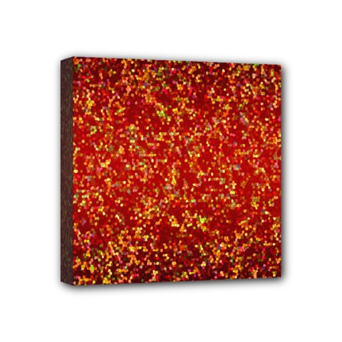Glitter 3 Mini Canvas 4  X 4  (framed) by MedusArt