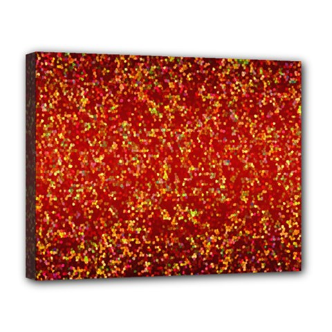 Glitter 3 Canvas 14  X 11  (framed) by MedusArt