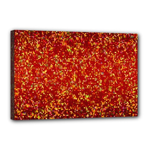 Glitter 3 Canvas 18  X 12  (framed) by MedusArt