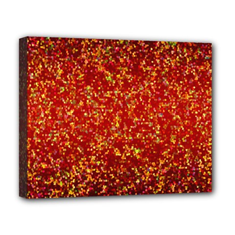 Glitter 3 Deluxe Canvas 20  X 16  (framed) by MedusArt