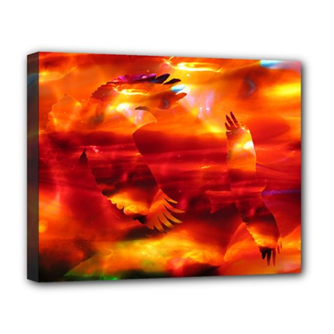 pluke Deluxe Canvas 20  x 16  (Framed) by saprillika