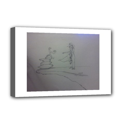 Chi Deluxe Canvas 18  X 12  (framed) by WispsofFantasy