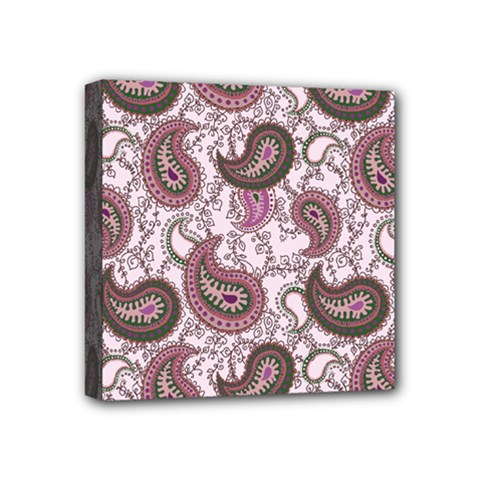Paisley In Pink Mini Canvas 4  X 4  (framed) by StuffOrSomething