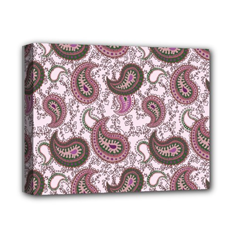 Paisley In Pink Deluxe Canvas 14  X 11  (framed) by StuffOrSomething