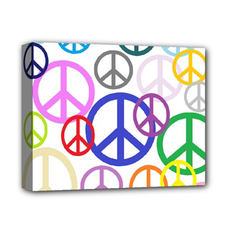 Peace Sign Collage Png Deluxe Canvas 14  X 11  (framed) by StuffOrSomething