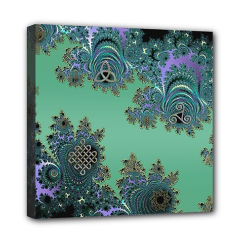 Celtic Symbolic Fractal Mini Canvas 8  X 8  (framed) by UROCKtheWorldDesign