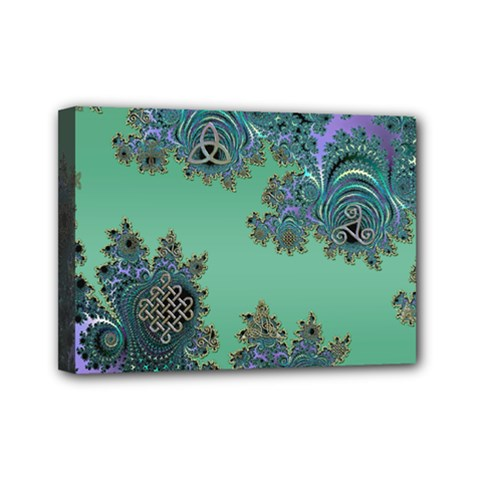 Celtic Symbolic Fractal Mini Canvas 7  X 5  (framed) by UROCKtheWorldDesign