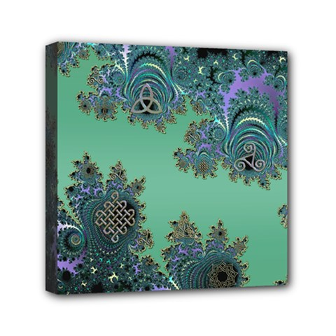Celtic Symbolic Fractal Mini Canvas 6  X 6  (framed) by UROCKtheWorldDesign