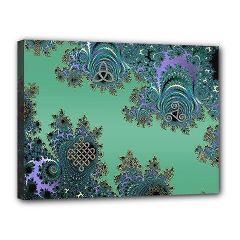 Celtic Symbolic Fractal Canvas 16  X 12  (framed)