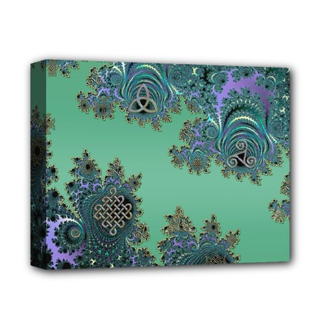 Celtic Symbolic Fractal Deluxe Canvas 14  X 11  (framed) by UROCKtheWorldDesign