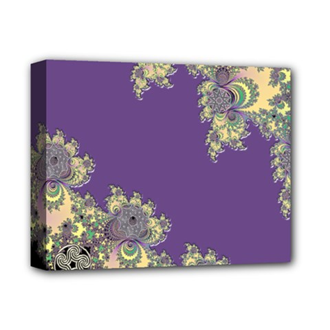 Purple Symbolic Fractal Deluxe Canvas 14  X 11  (framed) by UROCKtheWorldDesign