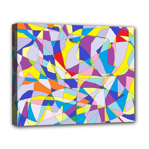 Fractured Facade Deluxe Canvas 20  x 16  (Framed) by StuffOrSomething