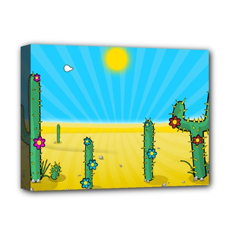 Cactus Deluxe Canvas 16  X 12  (framed)  by NickGreenaway