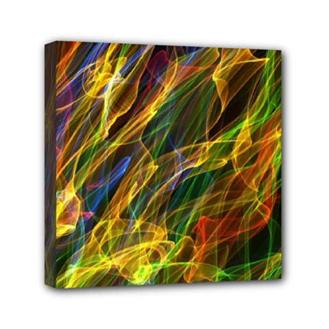 Colourful Flames  Mini Canvas 6  X 6  (framed) by Colorfulart23