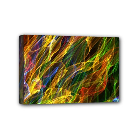 Colourful Flames  Mini Canvas 6  X 4  (framed) by Colorfulart23