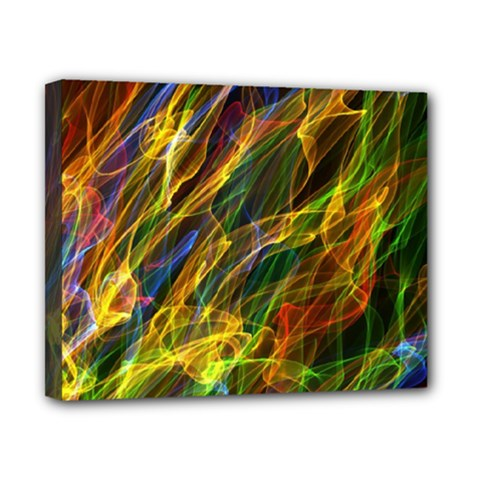 Colourful Flames  Canvas 10  X 8  (framed) by Colorfulart23
