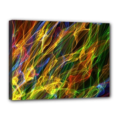 Colourful Flames  Canvas 16  X 12  (framed) by Colorfulart23