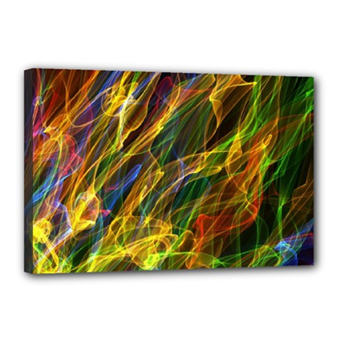 Colourful Flames  Canvas 18  X 12  (framed) by Colorfulart23