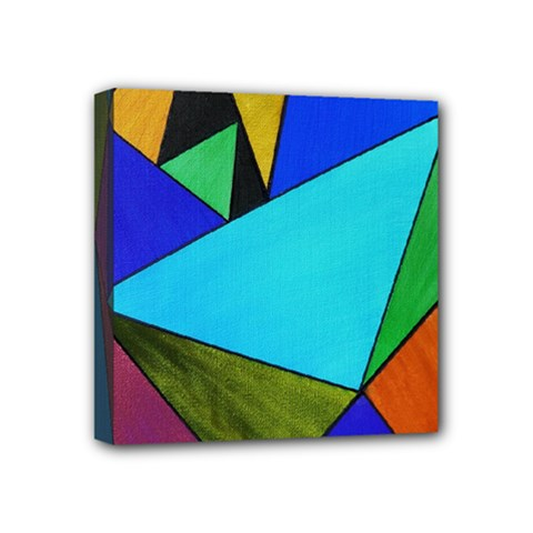 Abstract Mini Canvas 4  X 4  (framed) by Siebenhuehner