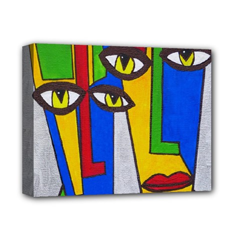 Face Deluxe Canvas 14  X 11  (framed) by Siebenhuehner