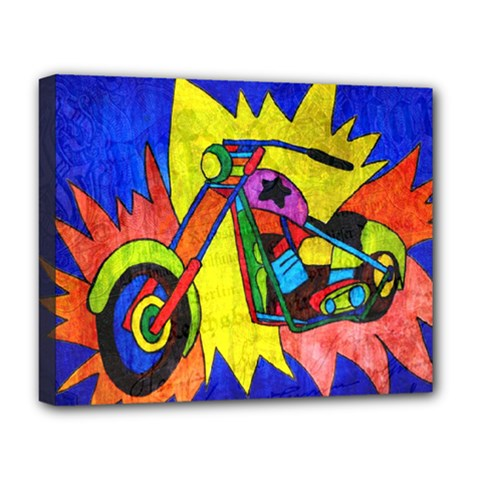 Chopper Deluxe Canvas 20  X 16  (framed) by Siebenhuehner