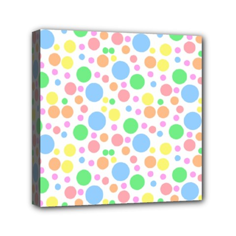 Pastel Bubbles Mini Canvas 6  X 6  (framed) by StuffOrSomething