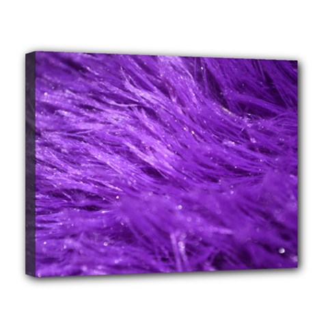 Purple Tresses Canvas 14  X 11  (framed) by FunWithFibro