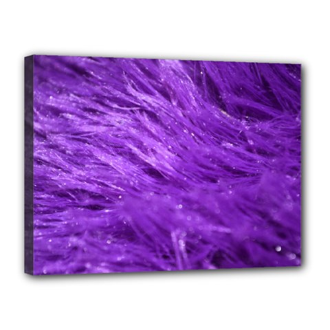 Purple Tresses Canvas 16  X 12  (framed) by FunWithFibro