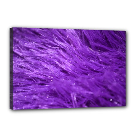 Purple Tresses Canvas 18  X 12  (framed)