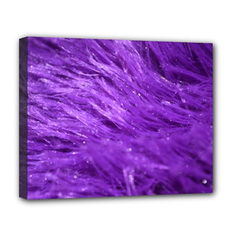Purple Tresses Deluxe Canvas 20  X 16  (framed) by FunWithFibro