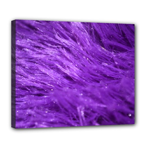 Purple Tresses Deluxe Canvas 24  X 20  (framed) by FunWithFibro