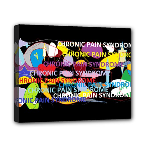 Chronic Pain Syndrome Canvas 10  x 8  (Framed) by FunWithFibro