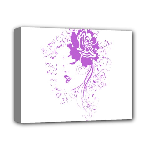 Purple Woman Of Chronic Pain Deluxe Canvas 14  X 11  (framed) by FunWithFibro