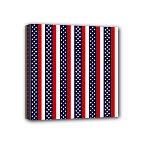 Patriot Stripes Mini Canvas 4  X 4  (framed) by StuffOrSomething