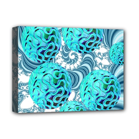 Teal Sea Forest, Abstract Underwater Ocean Deluxe Canvas 16  X 12  (framed)  by DianeClancy