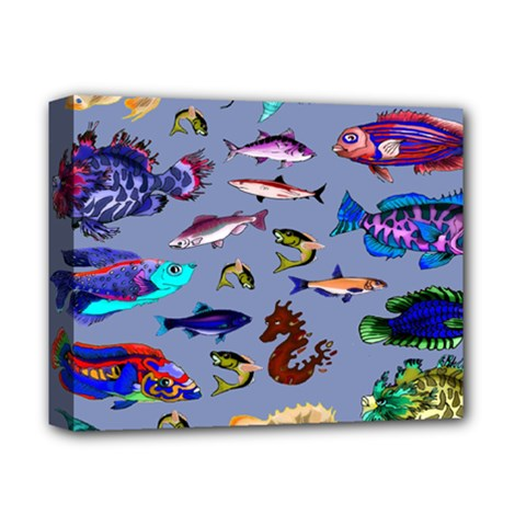 Fishy Deluxe Canvas 14  X 11  (framed) by Rbrendes