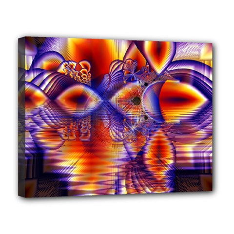 Winter Crystal Palace, Abstract Cosmic Dream Canvas 14  X 11  (stretched) by DianeClancy
