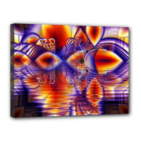 Winter Crystal Palace, Abstract Cosmic Dream Canvas 16  X 12  (stretched) by DianeClancy