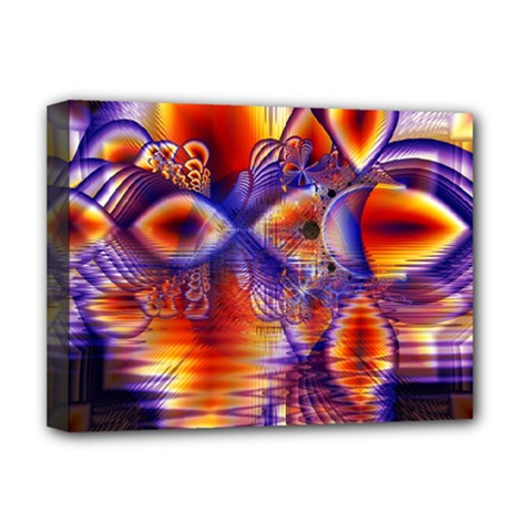 Winter Crystal Palace, Abstract Cosmic Dream Deluxe Canvas 16  X 12  (stretched)  by DianeClancy