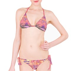 Glorious Skies, Abstract Pink And Yellow Dream Bikini by DianeClancy