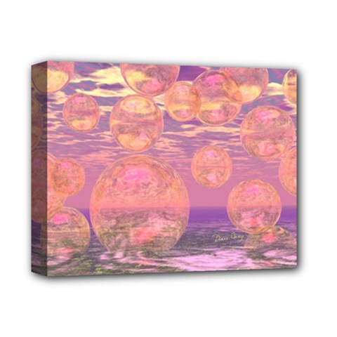 Glorious Skies, Abstract Pink And Yellow Dream Deluxe Canvas 14  X 11  (framed) by DianeClancy