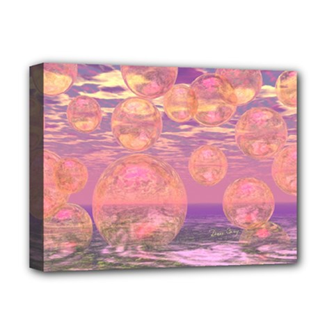 Glorious Skies, Abstract Pink And Yellow Dream Deluxe Canvas 16  X 12  (framed)  by DianeClancy