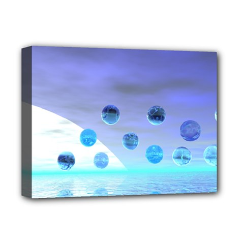 Moonlight Wonder, Abstract Journey To The Unknown Deluxe Canvas 16  X 12  (framed)  by DianeClancy